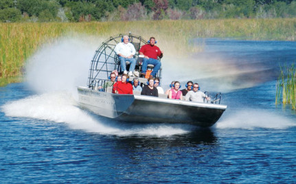 Exciting airboat ride through New Orleans's swamps with Airboat Adventures.