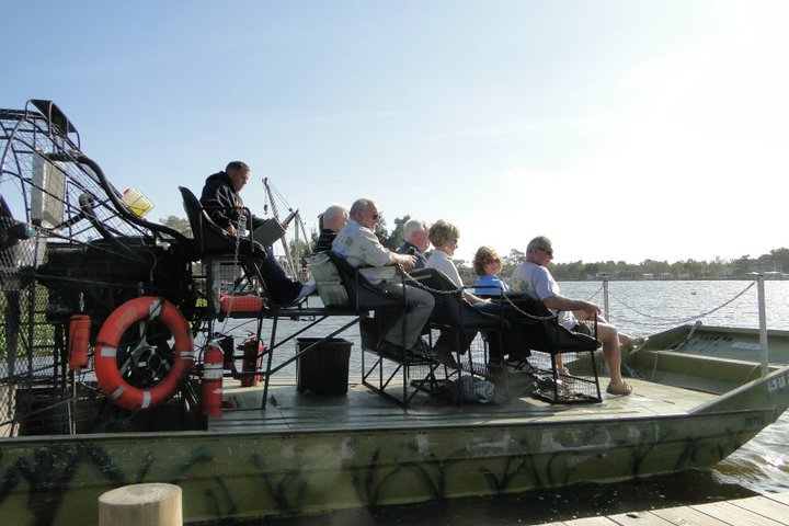 Enjoy an airboat tour through the swamps with Airboat Adventures.