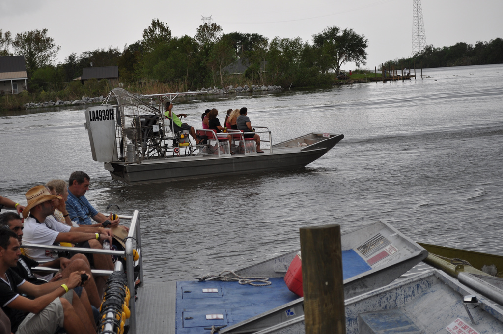 Exciting airboat ride through Louisiana's swamps