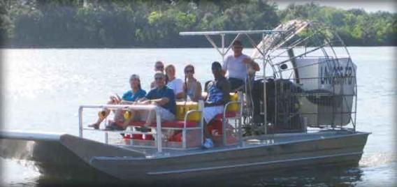 Fan Boat Swamp Tour Louisiana